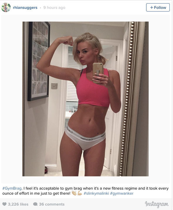 Rhian Sugden flaunted her gym-honed figure