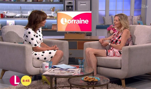 Rick Parfitt's wife Lyndsay talks to host Lorraine Kelly