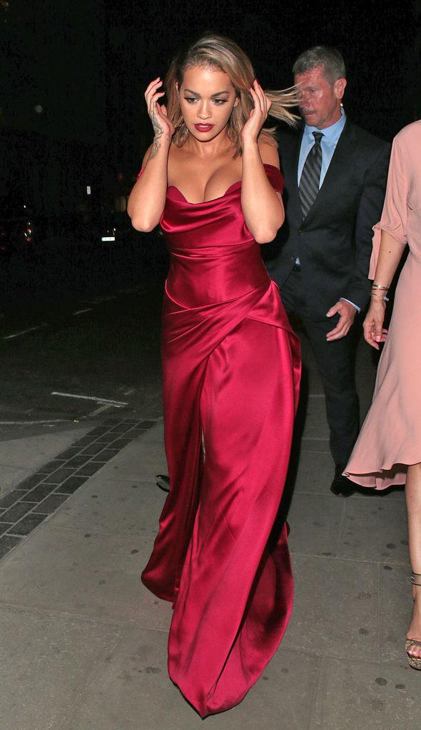 Rita Ora cleavage dress Cartier sexy