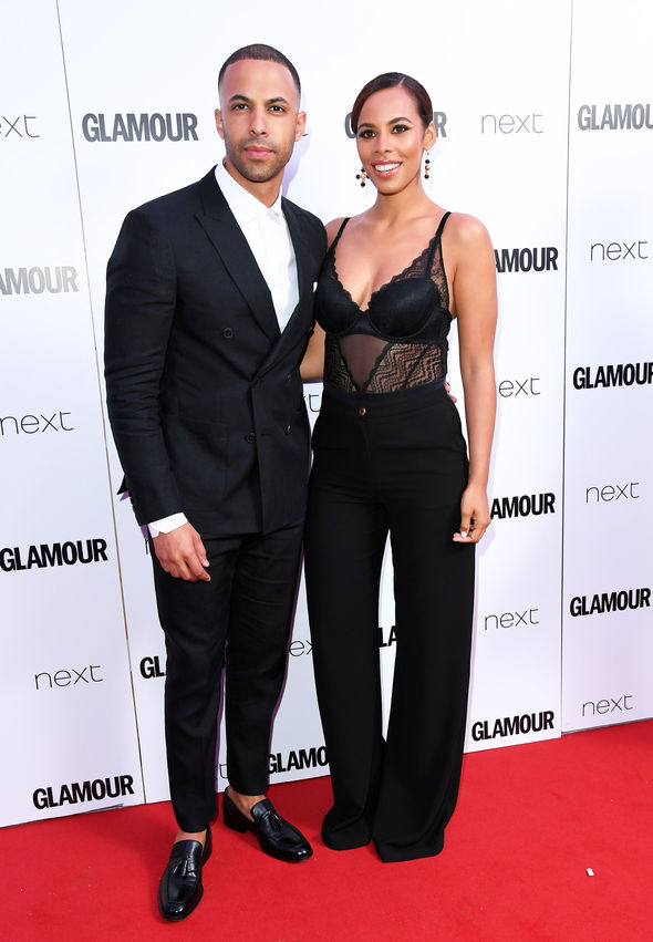 Rochelle posed with her husband Marvin Humes