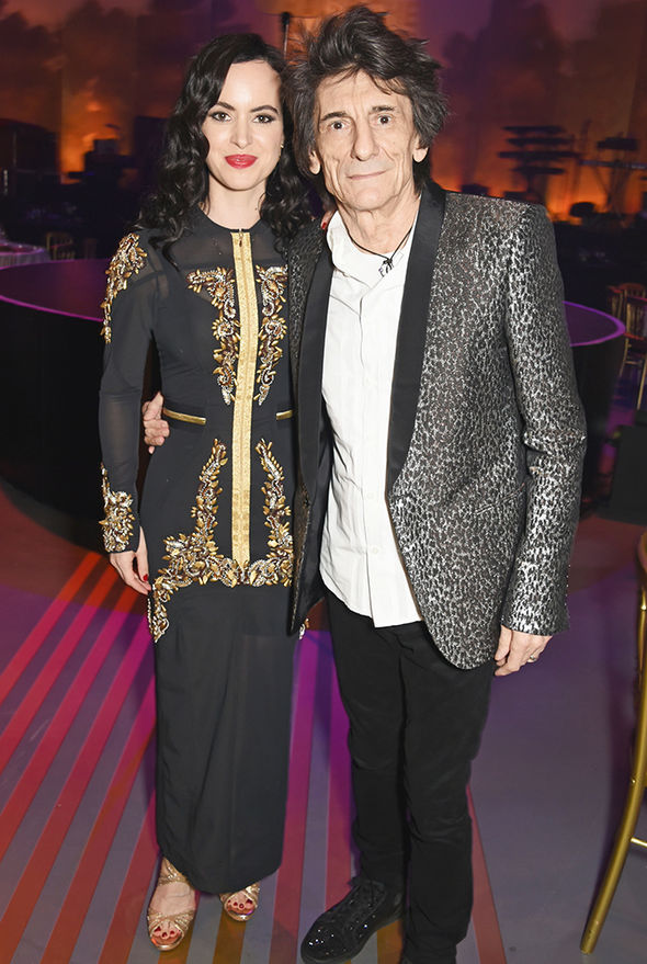 Ronnie Wood neck scar lung surgery age 70th wife Sally