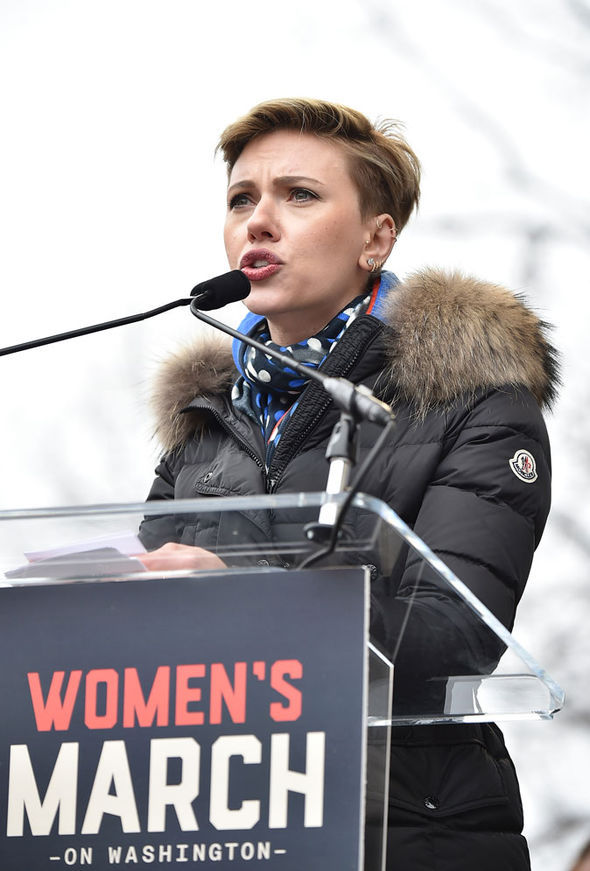 Scarlett spoke out at the Women's March