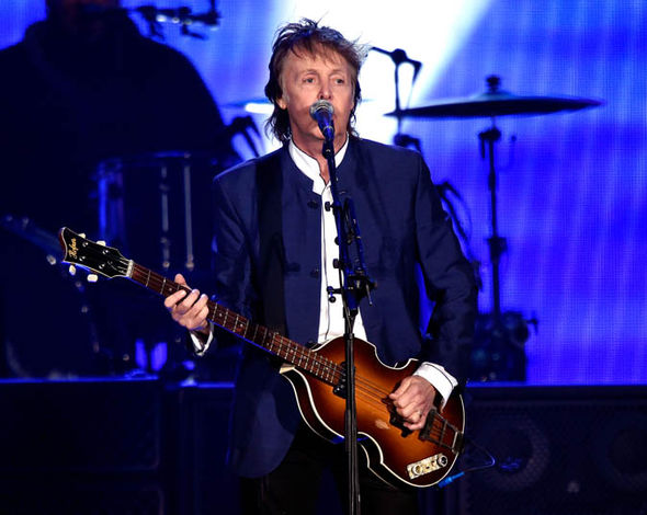 Sir Paul McCartney performing
