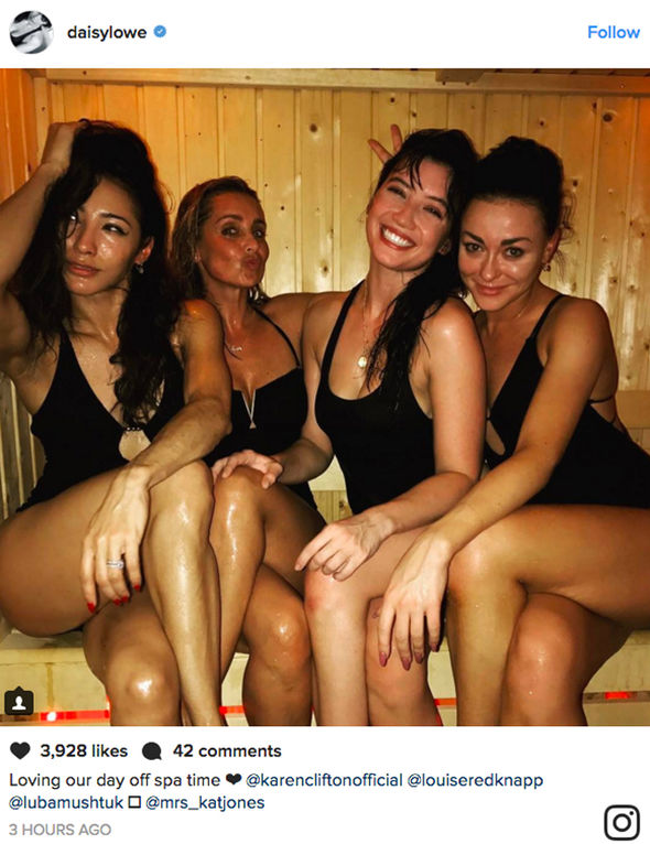 Strictly Come Dancing Louise Redknapp Daisy Lowe sauna Instagram