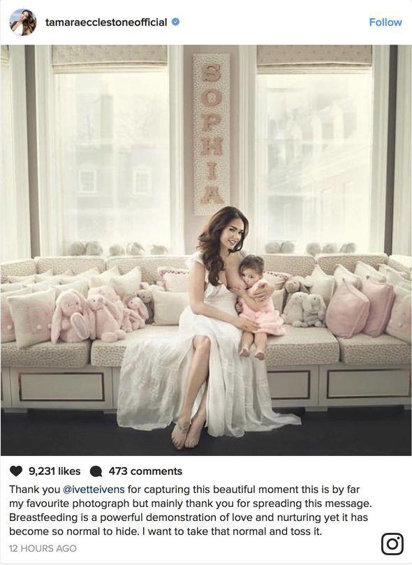 Tamara Ecclestone  breastfeeding Sophia