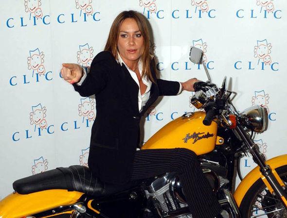 Tara Palmer-Tompkinson on a motorbike
