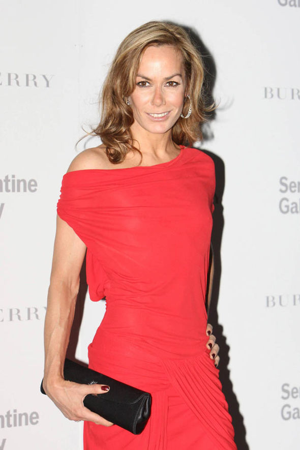 Tara Palmer Tomkinson in a red dress