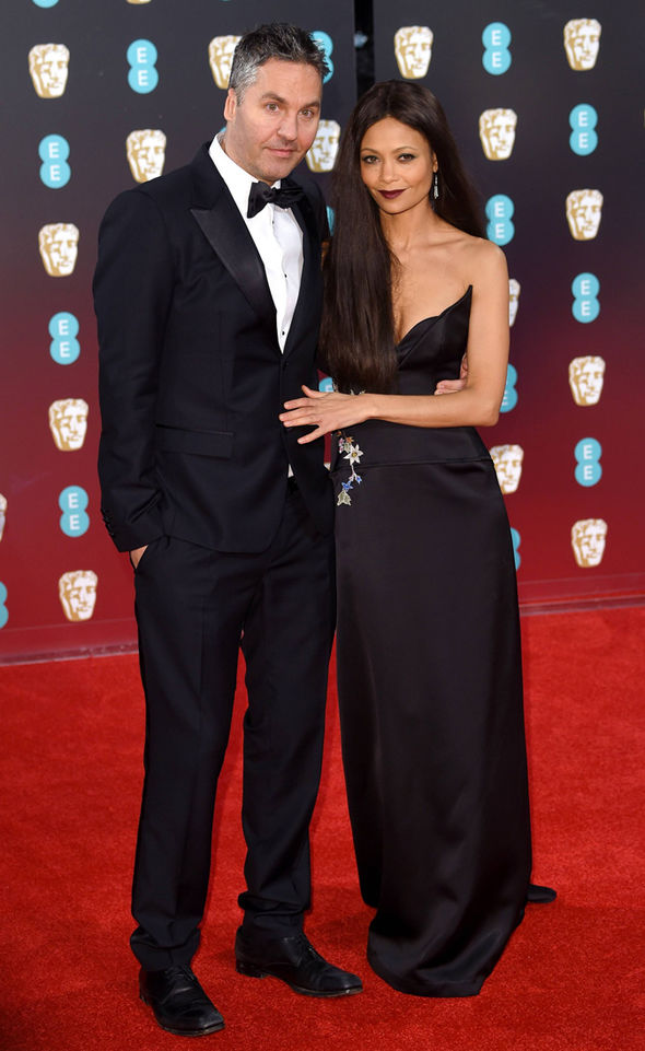 Thandie Newton chose a gothic look for the BAFTAs 2017 red carpet