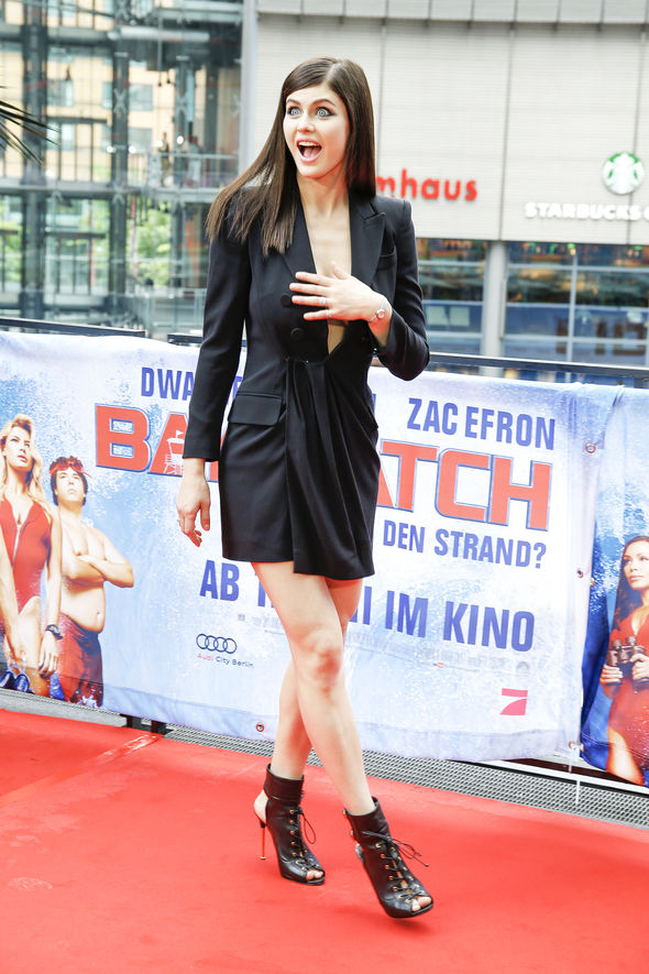 The actress at the premiere in Berlin