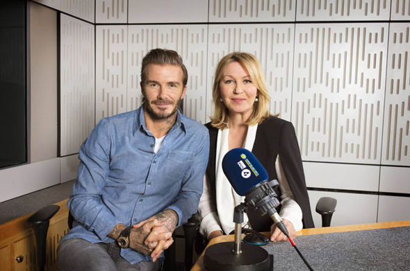 David Beckham and Kirsty Young on the show