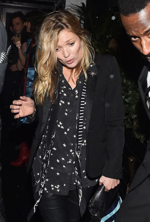 Kate Moss Looks Worse For Wear Following Night Out With