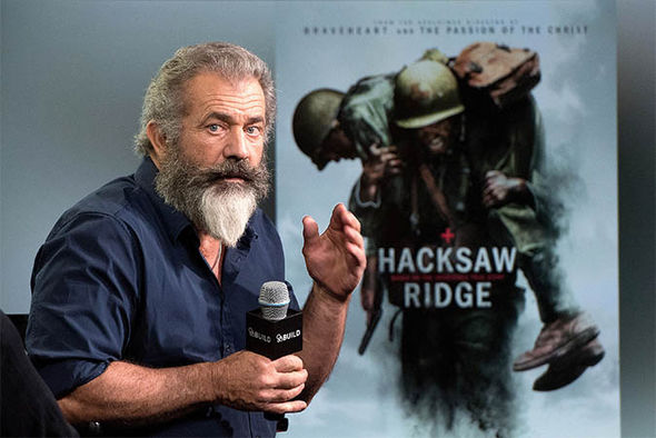 Gibson at a Hacksaw Ridge interview