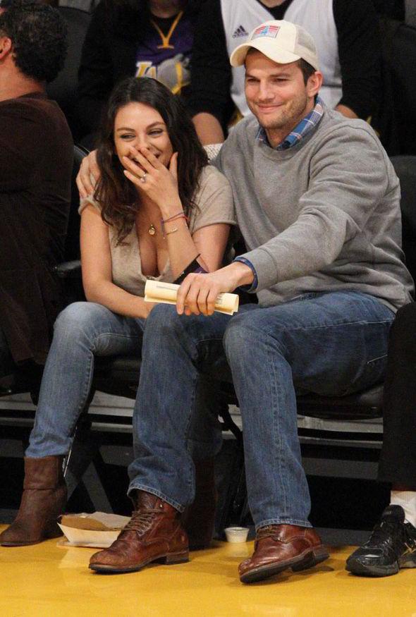 Mila Kunis and Ashton Kutcher take baby Wyatt out for