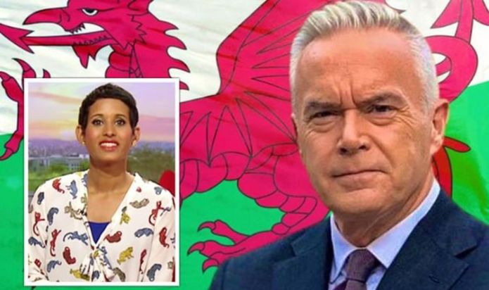 Huw Edwards' flag back for Six Nations amid BBC 'order' as Naga Munchetty 'likes' post