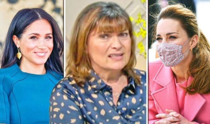 Lorraine wades into Meghan emoji row while saying Kate Middleton's 'not put a foot wrong'