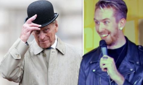 Moment Australian comedian jokes about Prince Philip's death - then is told he's dead