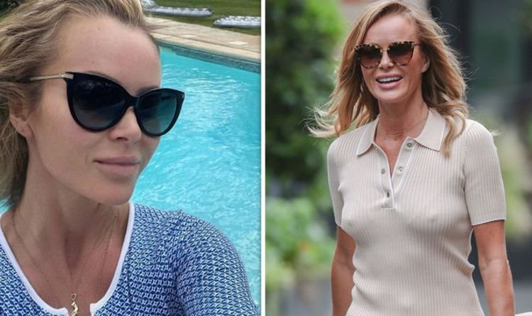Amanda Holden: I Can See Your Voice star sends fans wild in plunging blue swimsuit