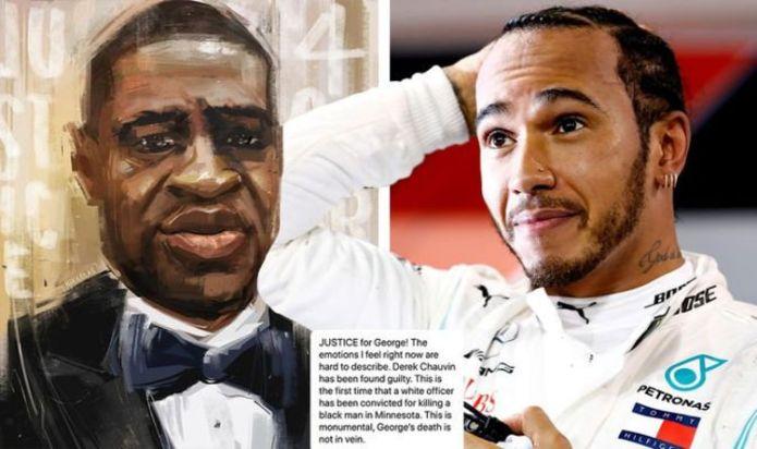 Lewis Hamilton talks 'hard to describe' emotions after 'monumental' Derek Chauvin verdict