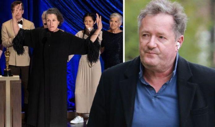 Piers Morgan furiously brands 'woke-ravaged' Oscars 2021 a 'howlingly dull trainwreck'