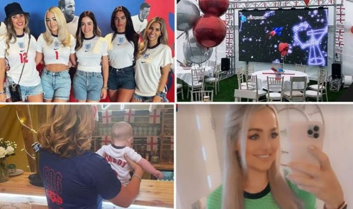 Inside England WAGs' preparations for Ukraine match as loved ones stay home to support