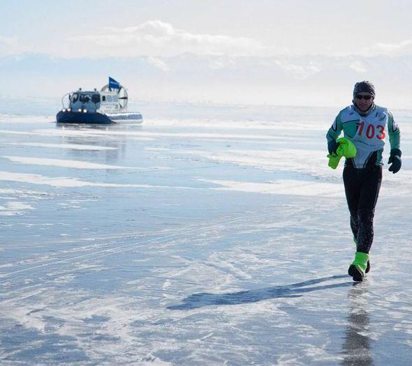 frozen race, russia race ice lake