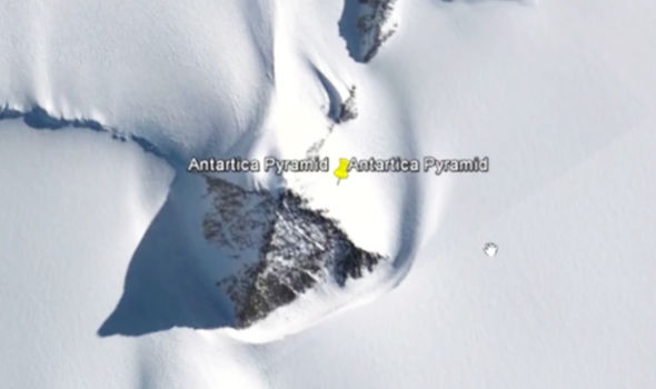 Antarctic polar dome pyramid UFO