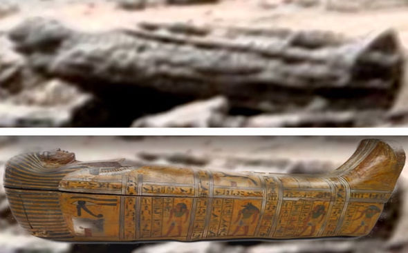 Mister Enigma has compared the shape to an ancient Egyptian sarcophagus from Earth