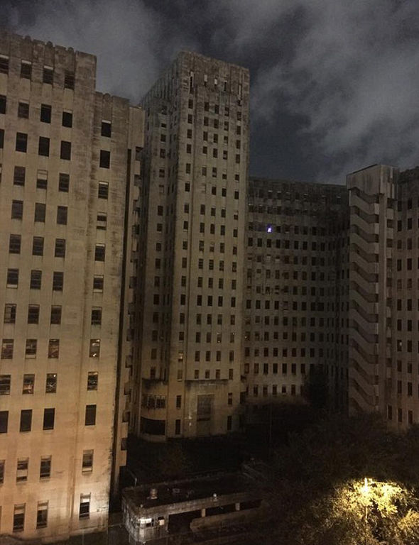 Charity Hospital ghost Empty for a decade since Hurricane Katrinathen lights came on  Weird