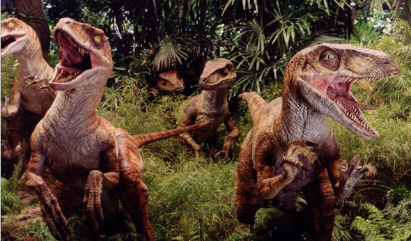 Tall story: The Richards' claim a race of alien raptors can speak English