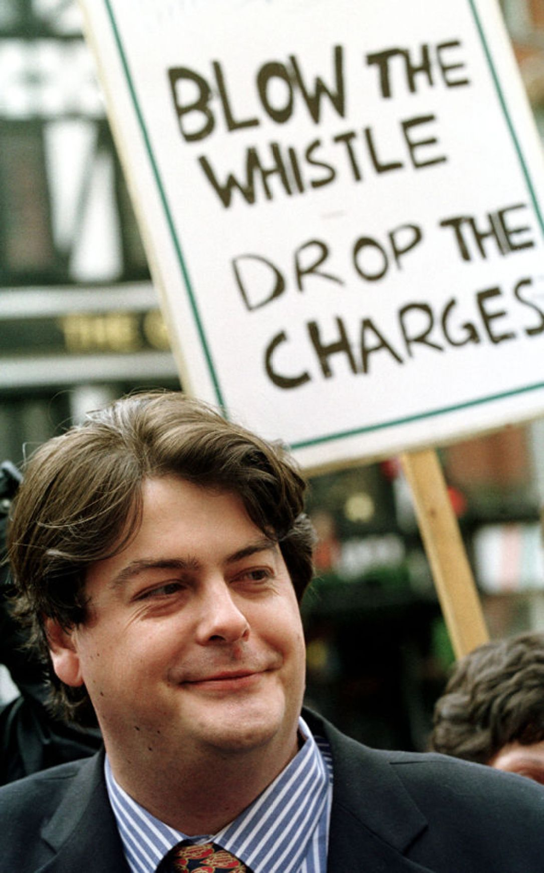 David Shayler in 2001 at the height of media storm surrounding his whistleblowing