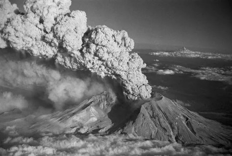 Mount St Helens eruption in 1980