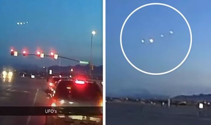 UFO sighting over Utah: Bizarre light formation is 'cloaked alien craft' claims ET hunter