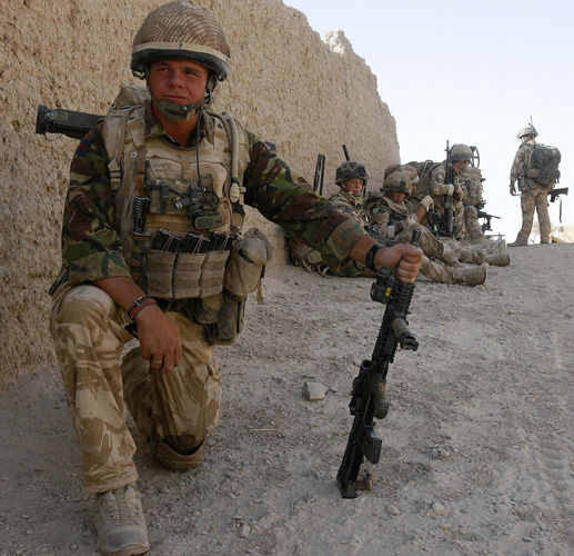 Welsh Guards, and 2 Mercian B Command, in Gereshk