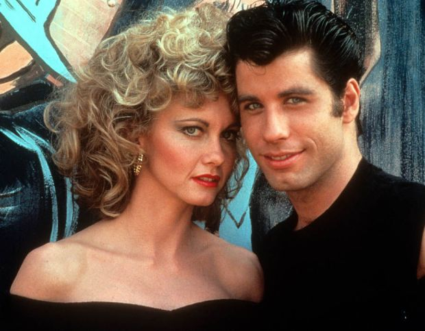 Olivia Newton John And John Travolta in Grease, 1978