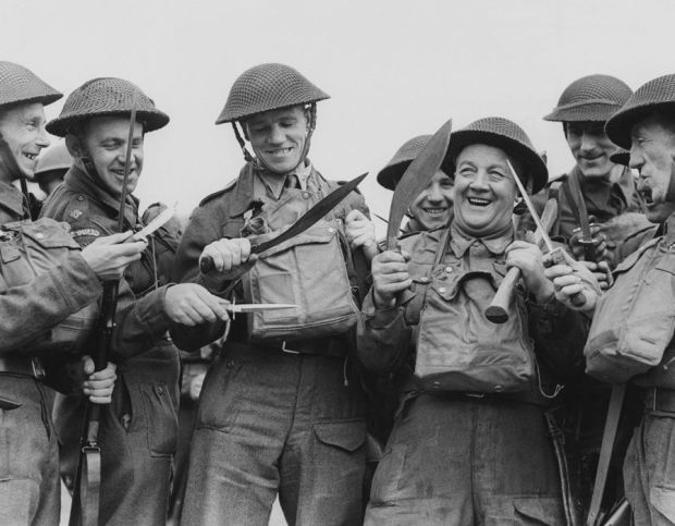 Members of the Home Guard with weaponery