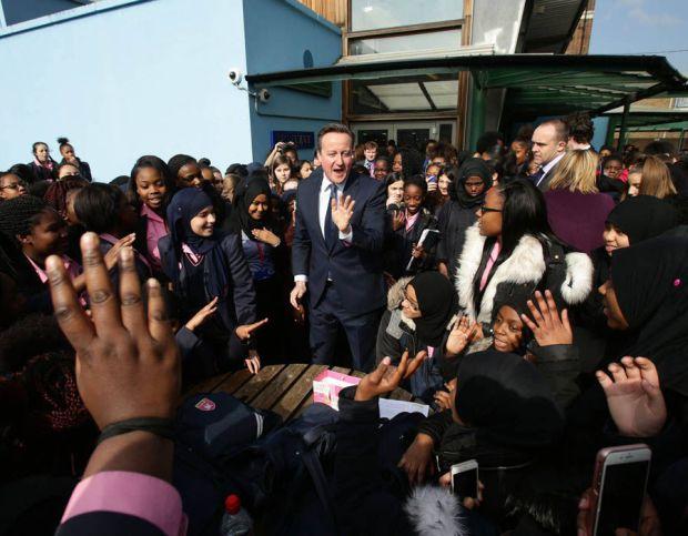 Cameron visits Harris Academy