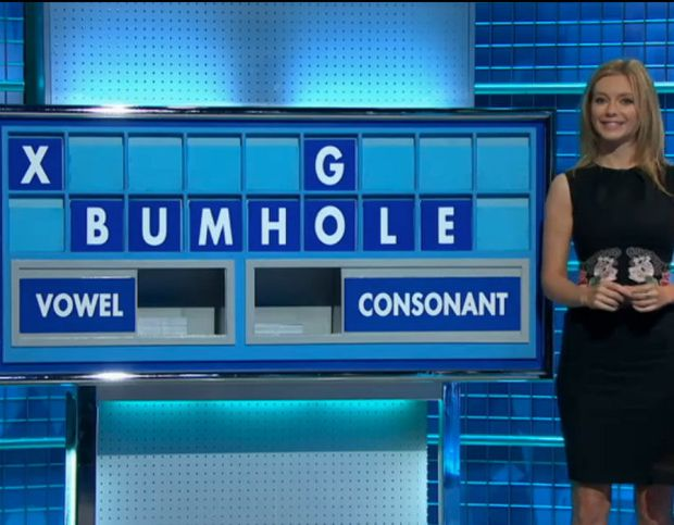This is the hilarious moment Countdown brainbox Rachel Riley was forced to spell out the word BUMHOLE