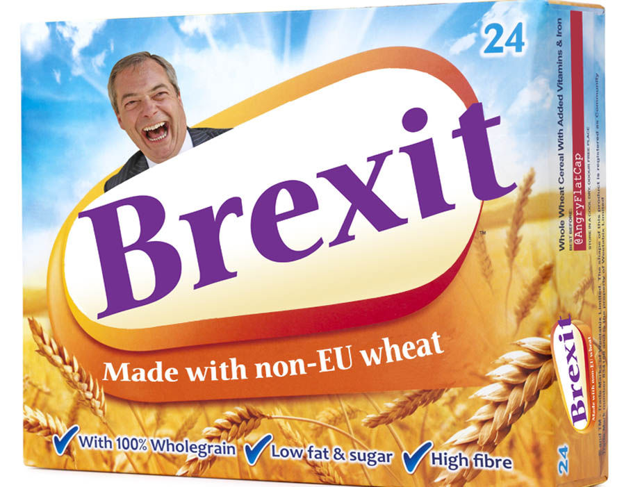 This meme see's Nigel Farage advertising cereal