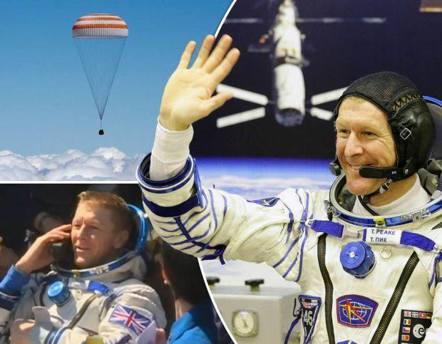 British astronaut Tim Peake safely lands on Earth