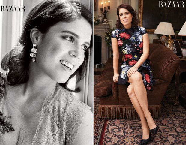 Princess Eugenie poses for the September issue of Harper's Bazaar (www.harpersbazaar.com/princesseugenie)