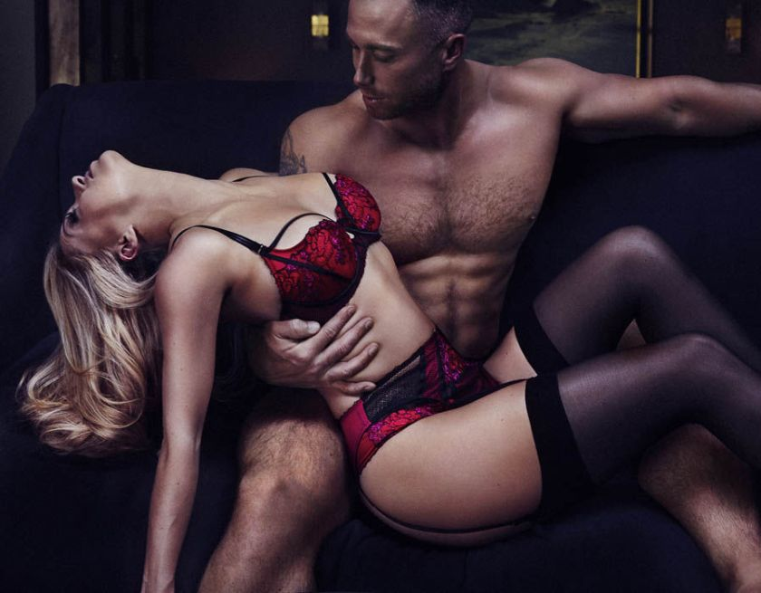 Ola and James Jordan show off their incredible dancers physiques in racy Ann Summers lingerie campaign