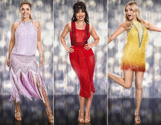 Louise Redknapp, Daisy Lowe and Laura Whitmore
