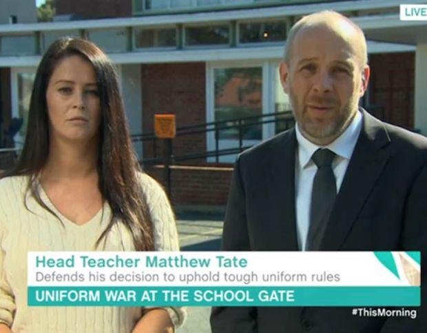 Headmaster of Hartsdown Academy Margate Matthew Tate appeared on This Morning alongside mother Latasha Whiting