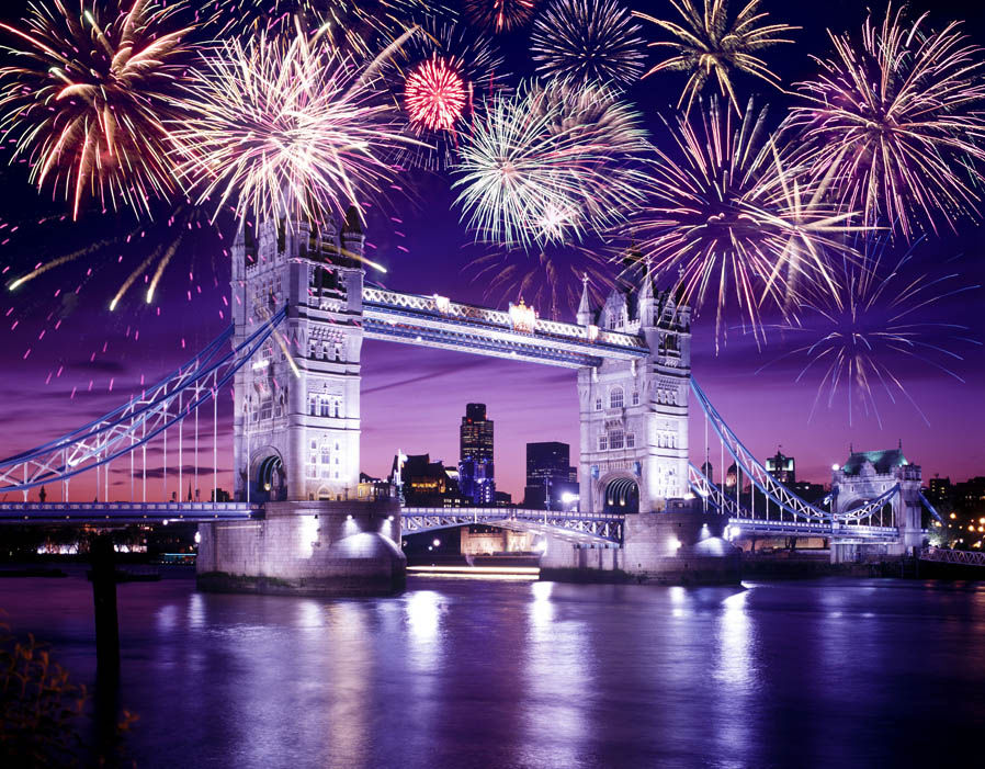 London, UK - New Year's Eve fireworks