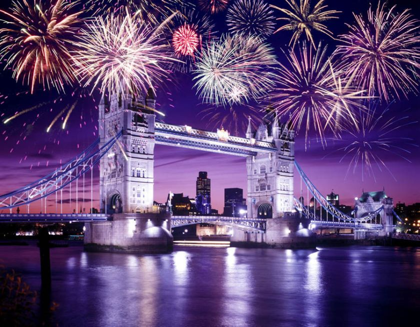 London, UK - New Year's Eve fireworks