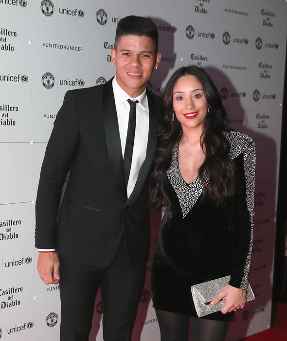 Marcos Rojo and partner Eugenia