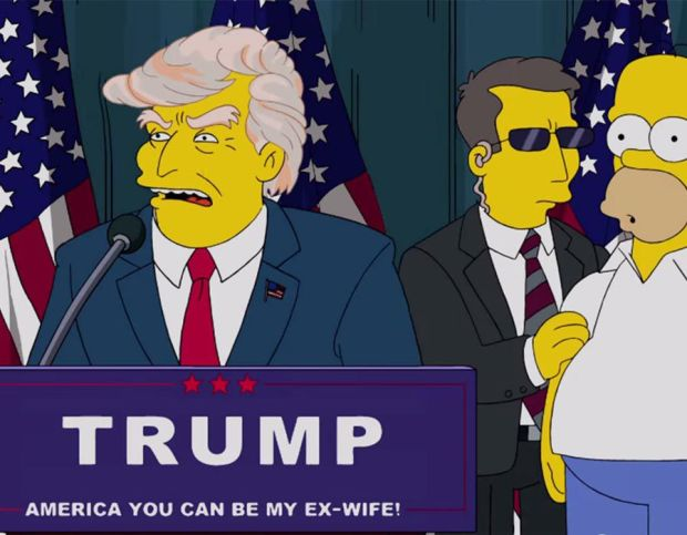 The Simpsons Trump Presidency prediction