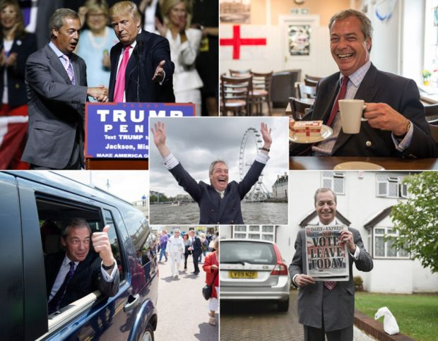 Nigel Farage in pictures