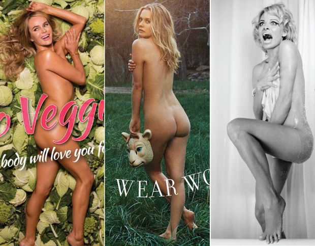 Amanda Holden, Alicia Silverstone & Pamela Anderson strip off for PETA