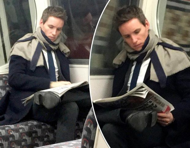 Eddie Redmayne joins commuters AGAIN as he takes a ride on the London Underground